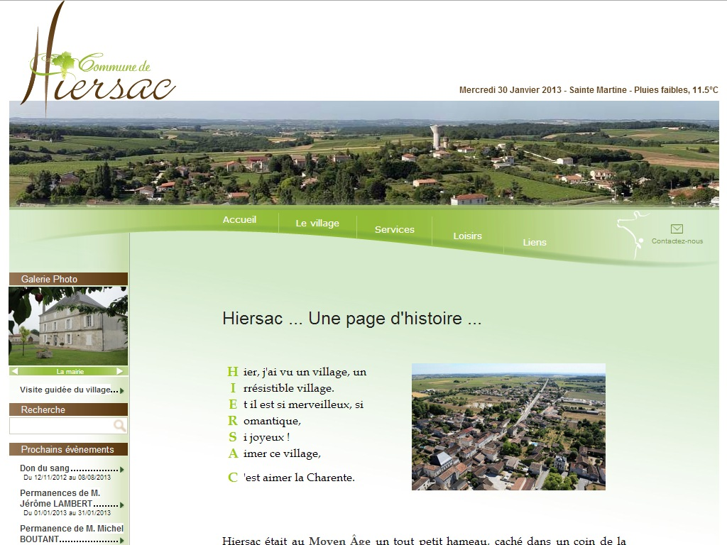 Mairie de Hiersac, Charente