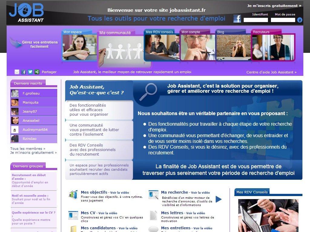 Job Assistant : Plateforme communautaire & outils d'aide au retour à l'emploi