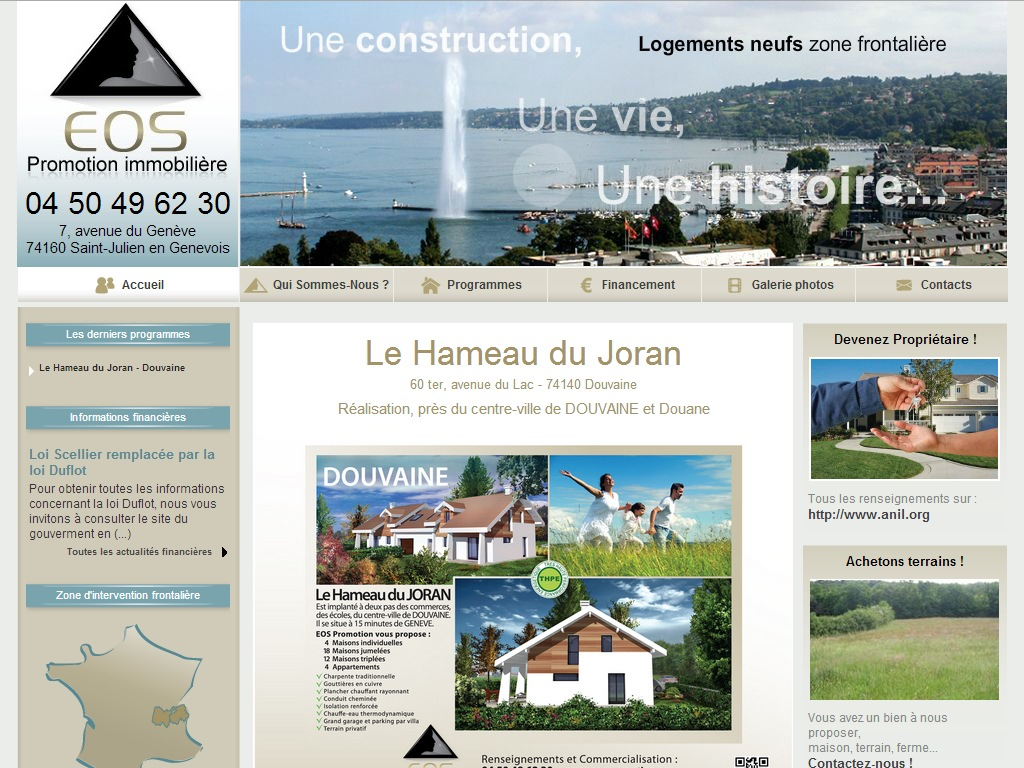 Développement Site vitrine Saint-Julien-en-Genevois
