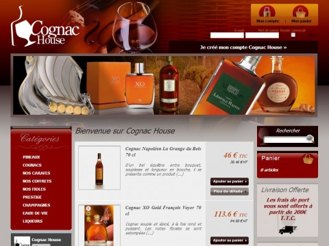 Cognac House : Site e-commerce