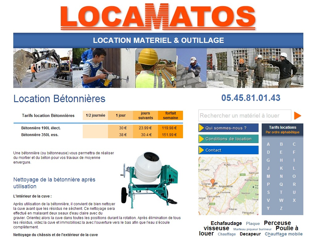 Locamatos - Location de matériels & outillages
