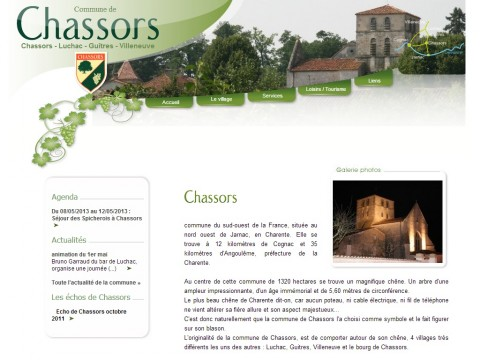 Mairie de Chassors, Charente