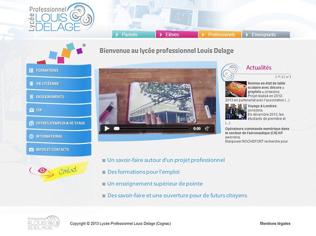 Lycée professionnel Louis Delage, à Cognac, Charente(16)