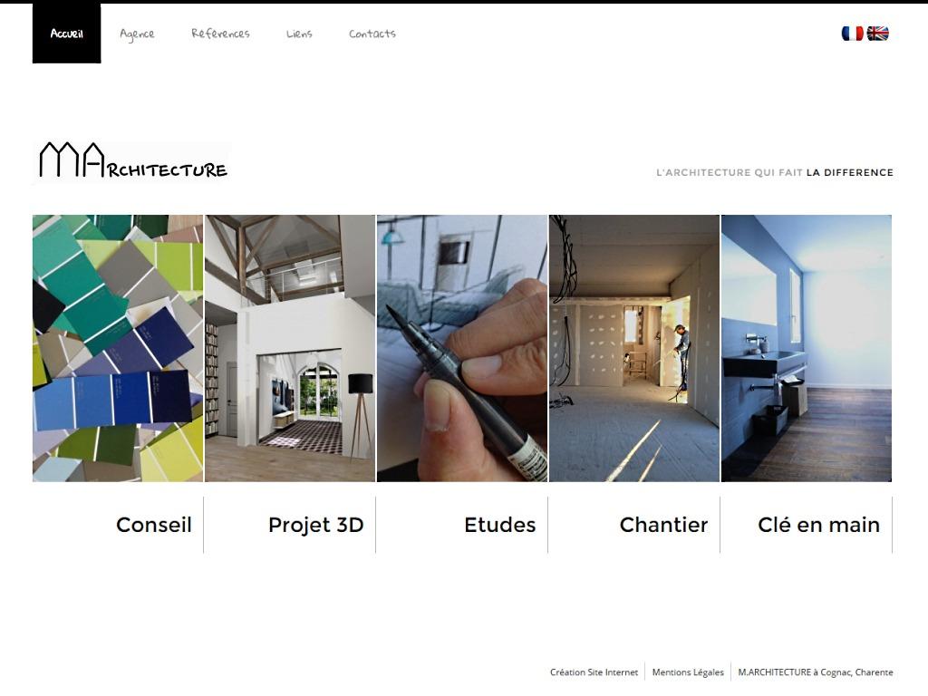 Site internet d'un cabinet d'architecture