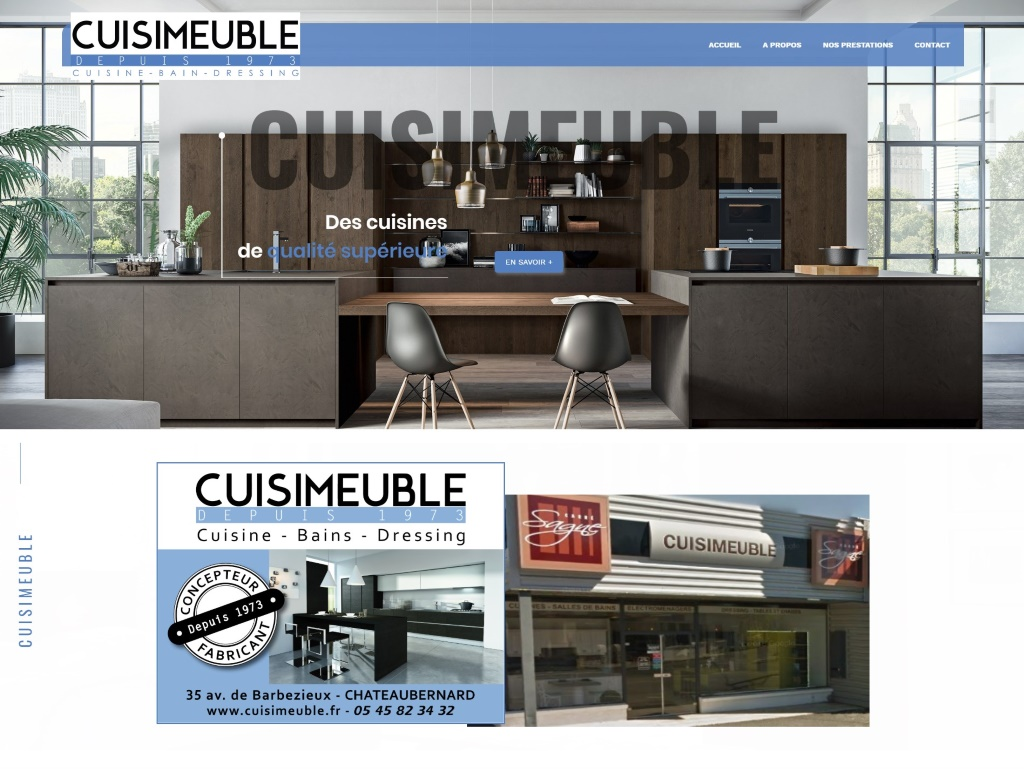 Site internet cuisiniste Charente, Angers (49000)