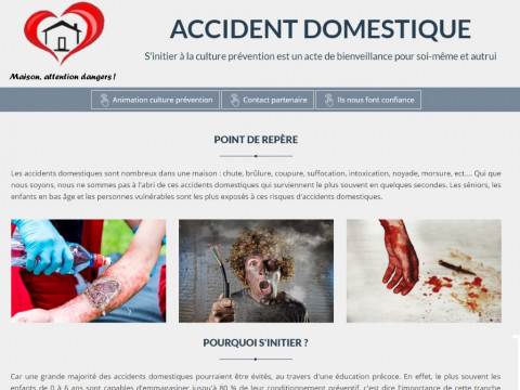 Agence Web Angoulême, Charente : Accidents Domestiques - APAVC