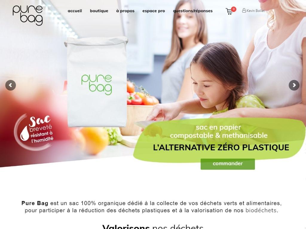 Purebag : Sacs poubelle compostables et méthanisables
