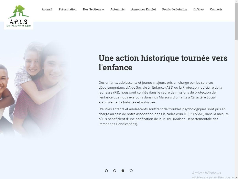 Création du site internet d'une association