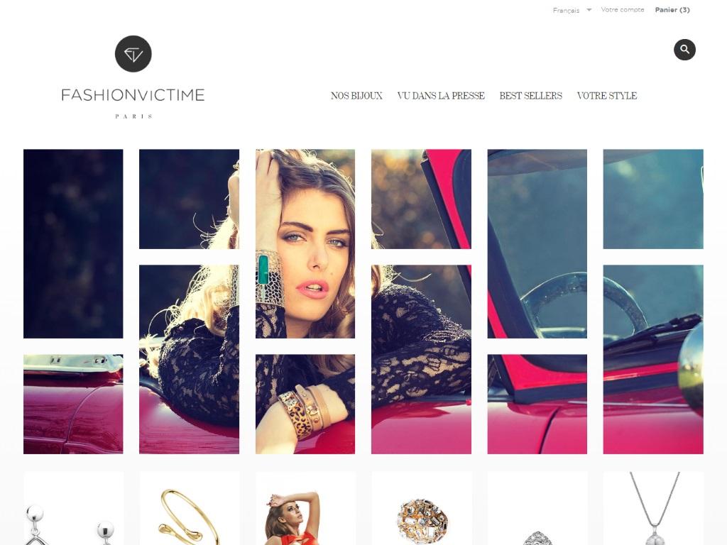 Fashionvictime Bijoux, Site de vente en ligne