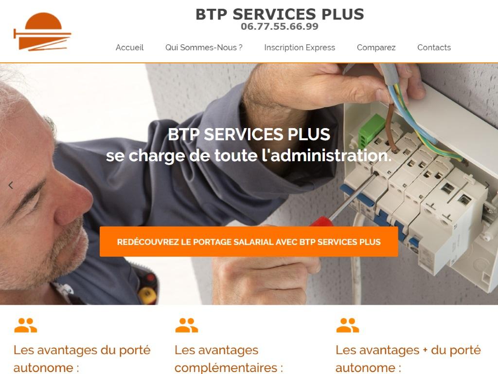 BTP Services Plus, Portage Salarial, Création de Site Internet